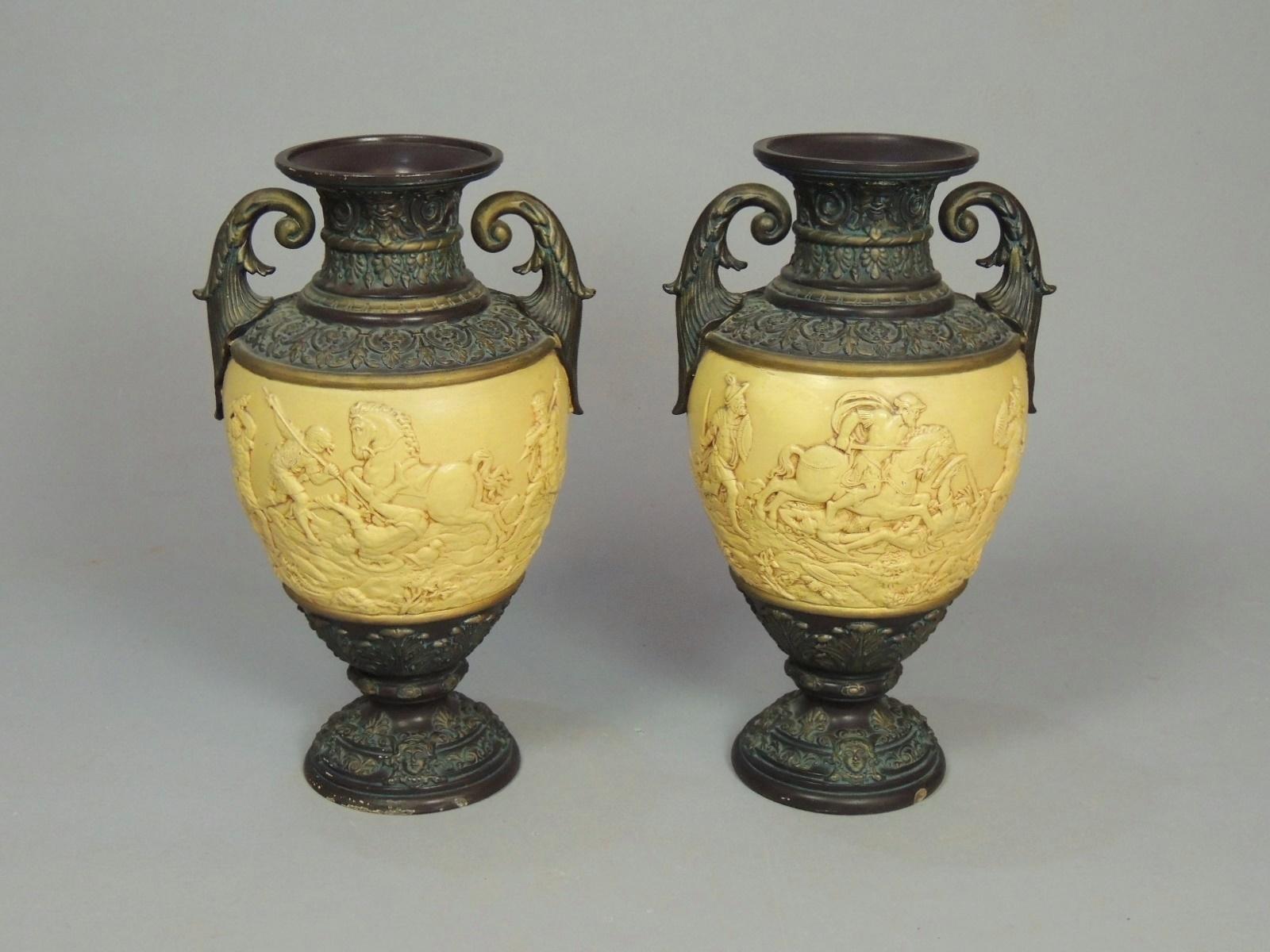 Arte E Antiquariato Arredamento D'antiquariato Antico Piatto In Terracotta A Bossorilievo Con Scene Neoclassiche
